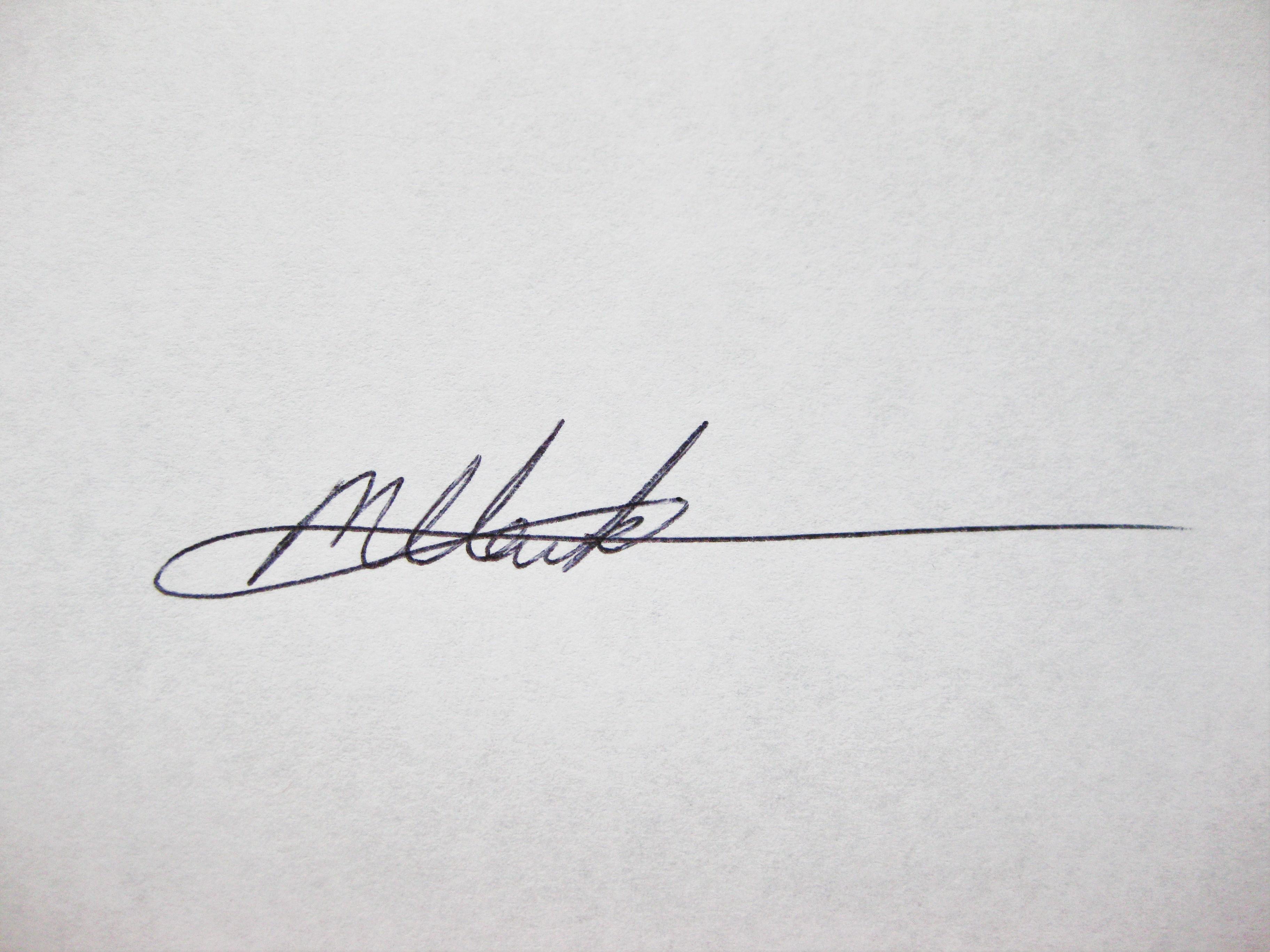 Melissa H. Clark's Signature