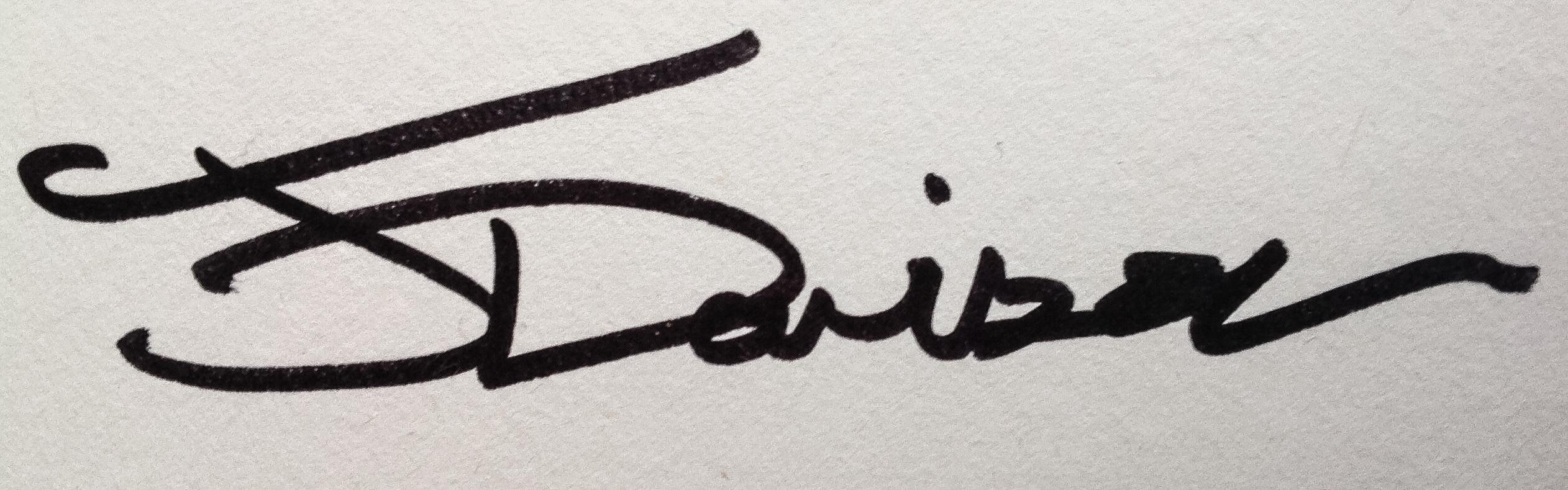 John Davison's Signature