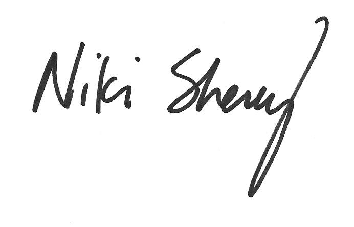 Niki Sherey's Signature