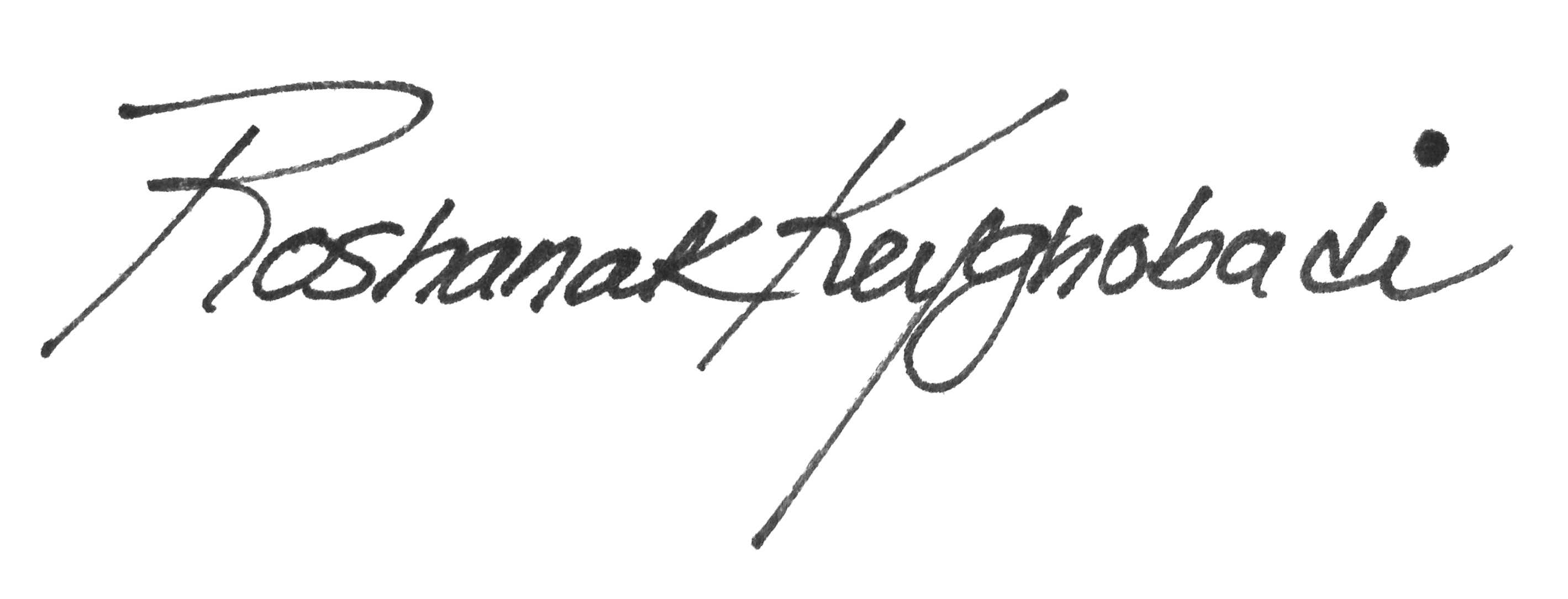 Roshanak Keyghobadi's Signature