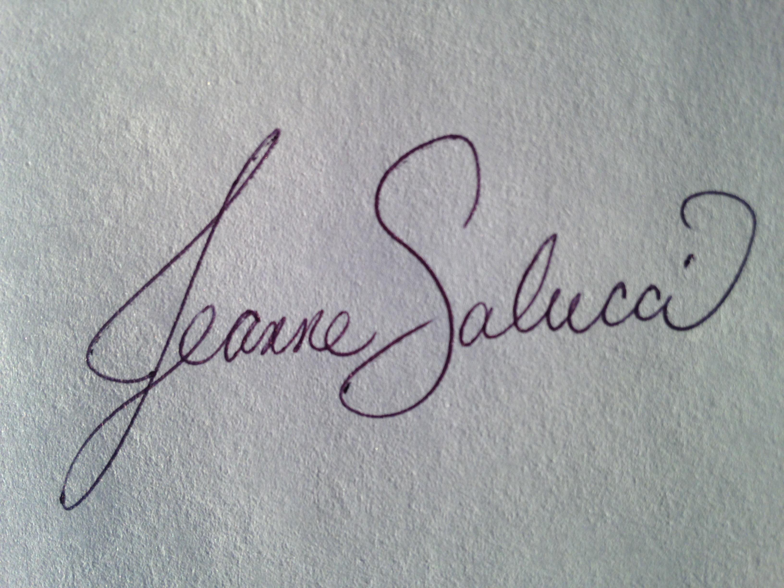 Jeanne Salucci's Signature