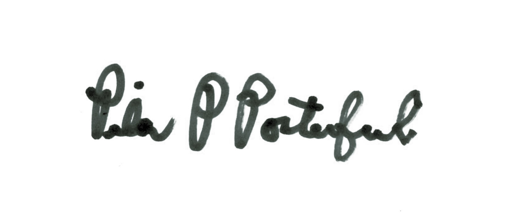 Pilar Porterfield's Signature