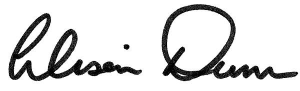 Alison Mary Dunn's Signature