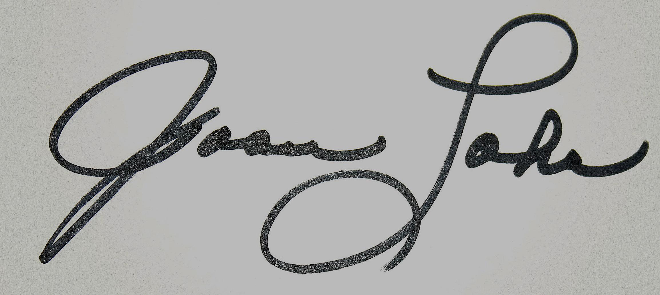 Joan Lohr's Signature