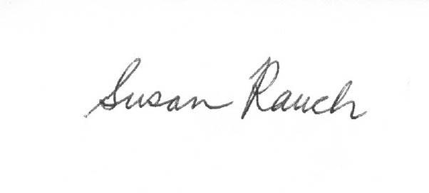 susan rauch's Signature