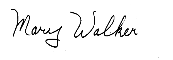 Mary Walker's Signature