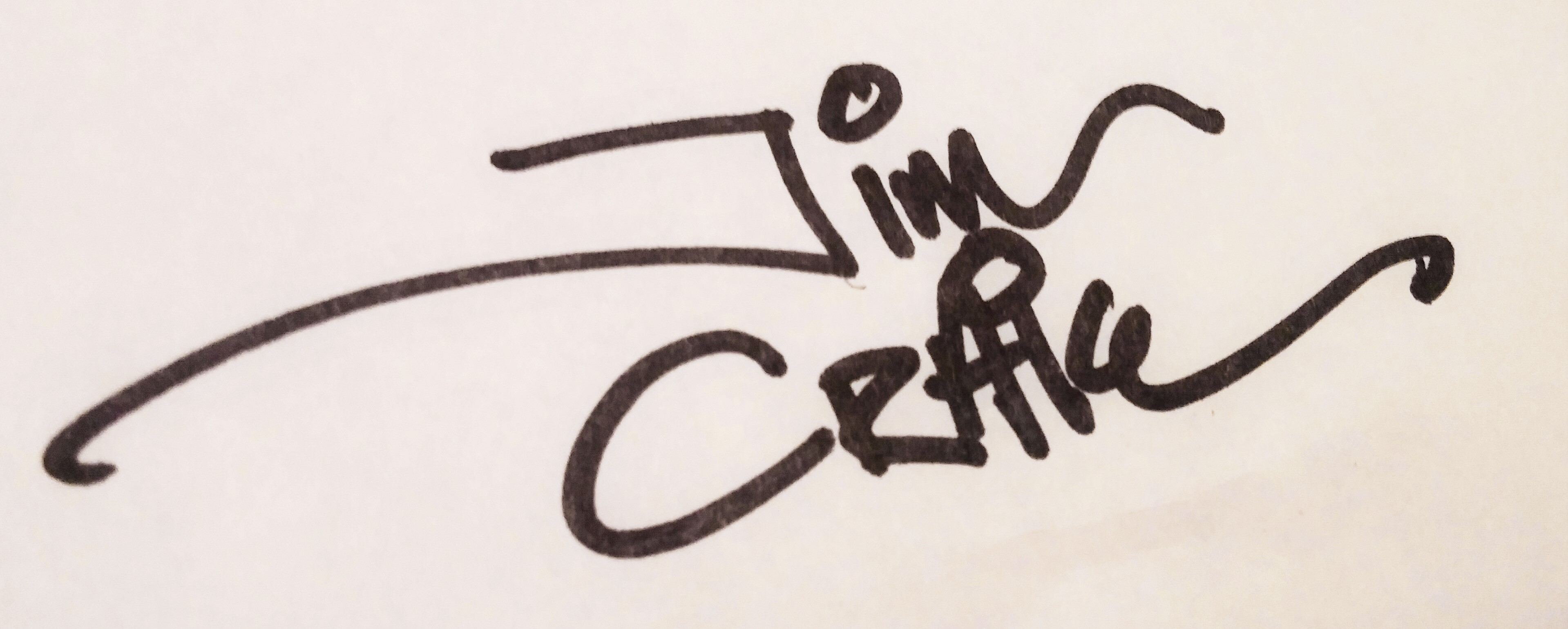 Jim Craig's Signature