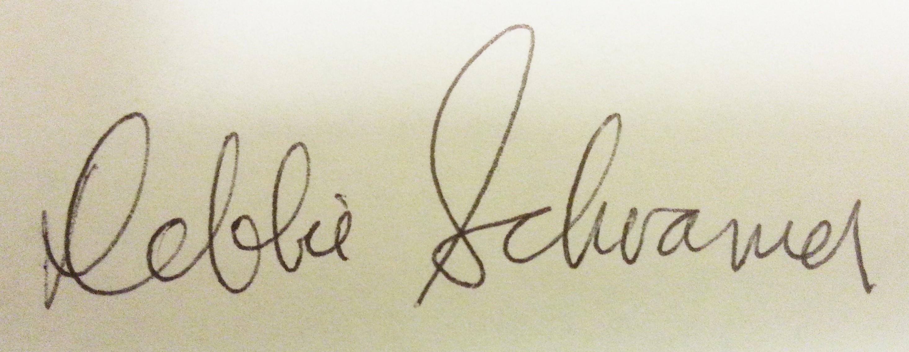 Debbie Schramer's Signature