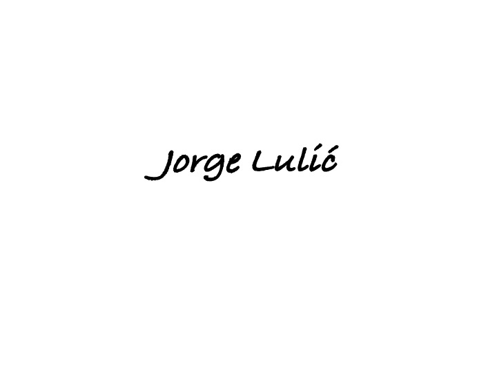 Jorge Lulic's Signature