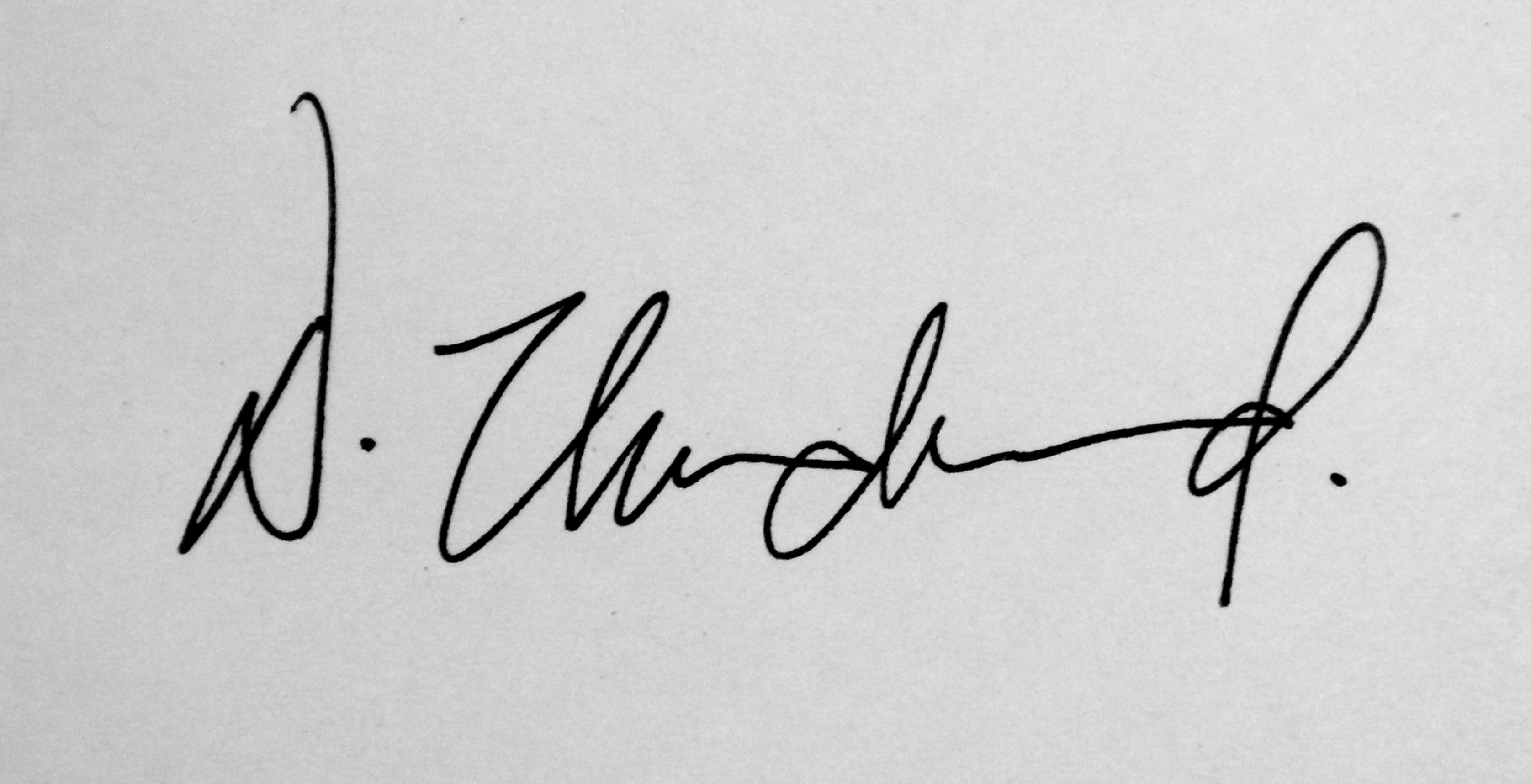 David Underwood's Signature