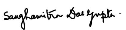 Sanghamitra Dasgupta's Signature