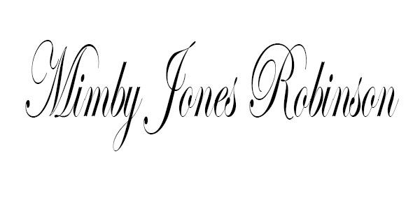 Mimby Jones robinson's Signature
