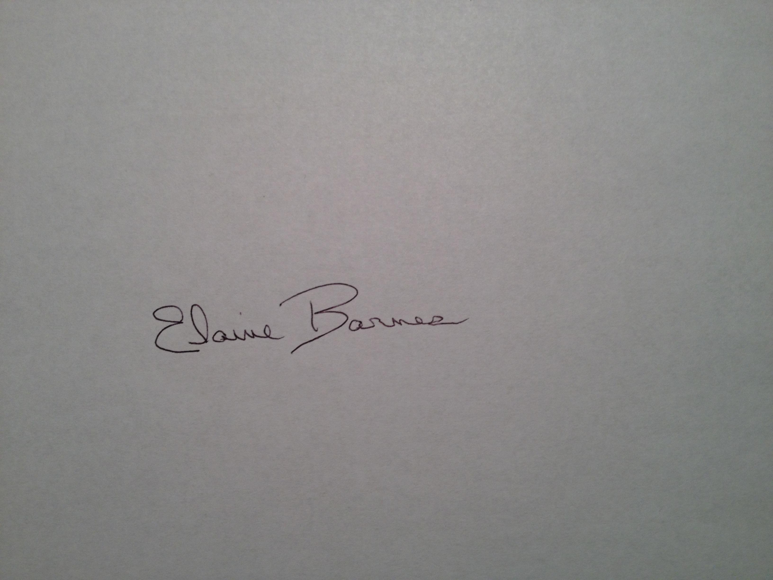 Elaine Barnes's Signature