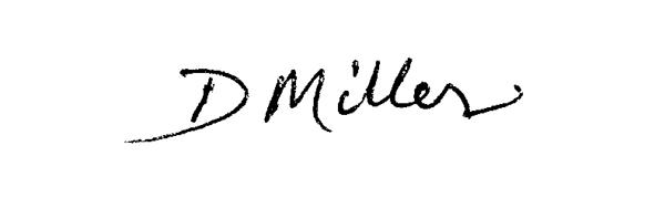 David Miller's Signature
