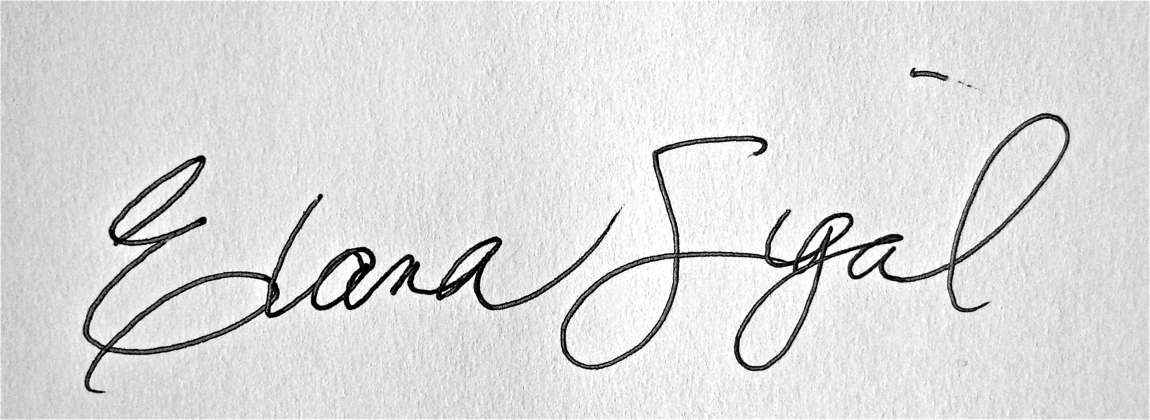 Elana Sigal's Signature