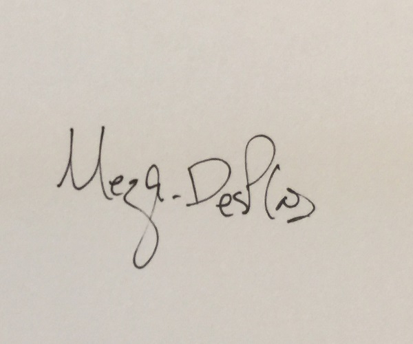 Rosemary Meza-DesPlas's Signature
