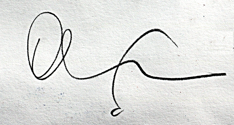 Oliver Loveday's Signature