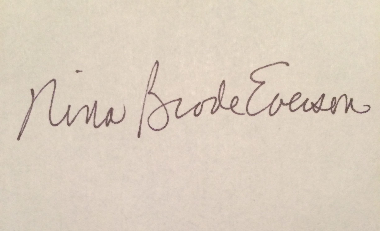 Nina Everson's Signature