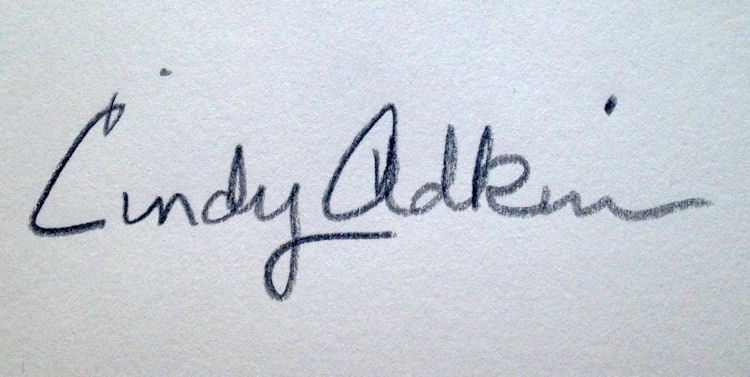 Cindy Adkins's Signature