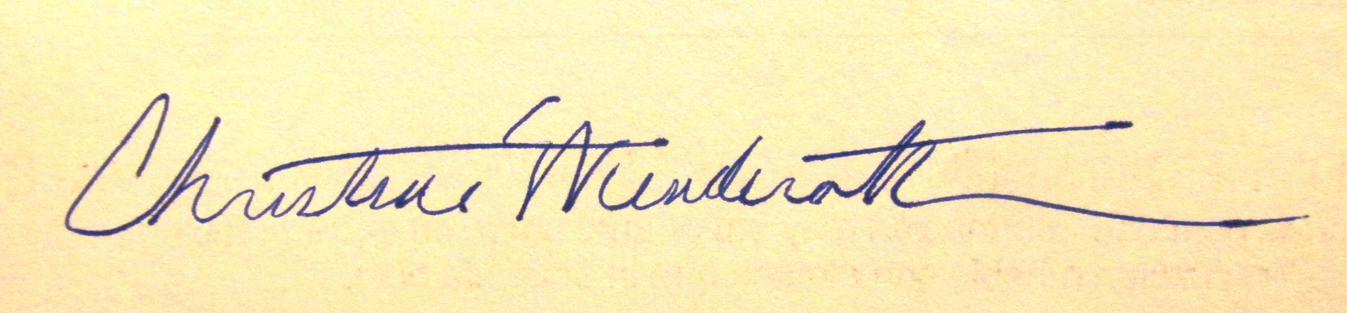 Christine Wenderoth's Signature