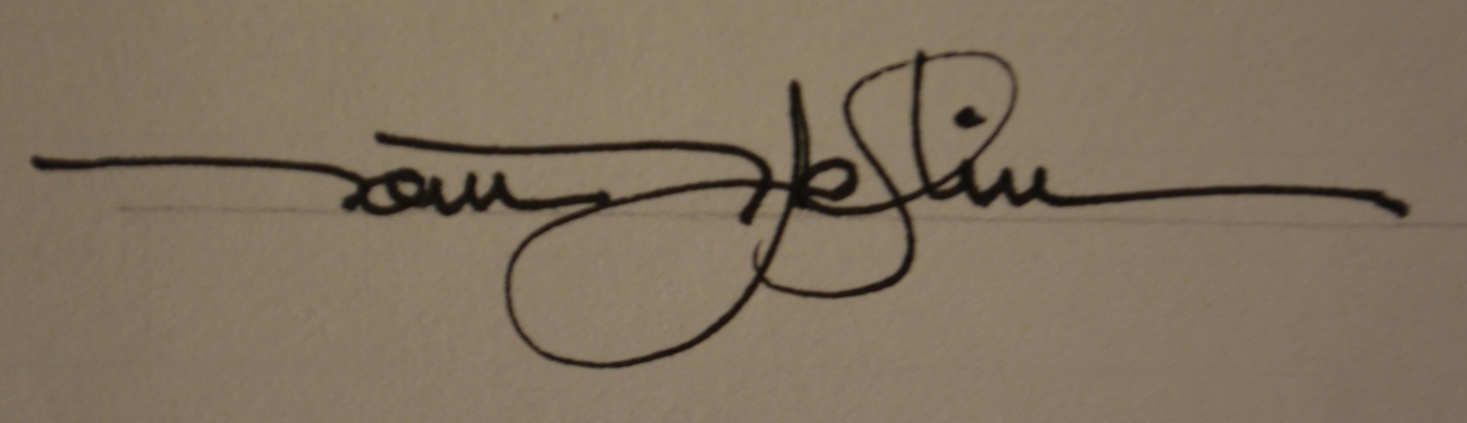 Thomas Patrick Heflin's Signature