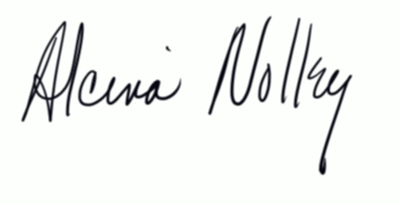 Alcina Nolley's Signature