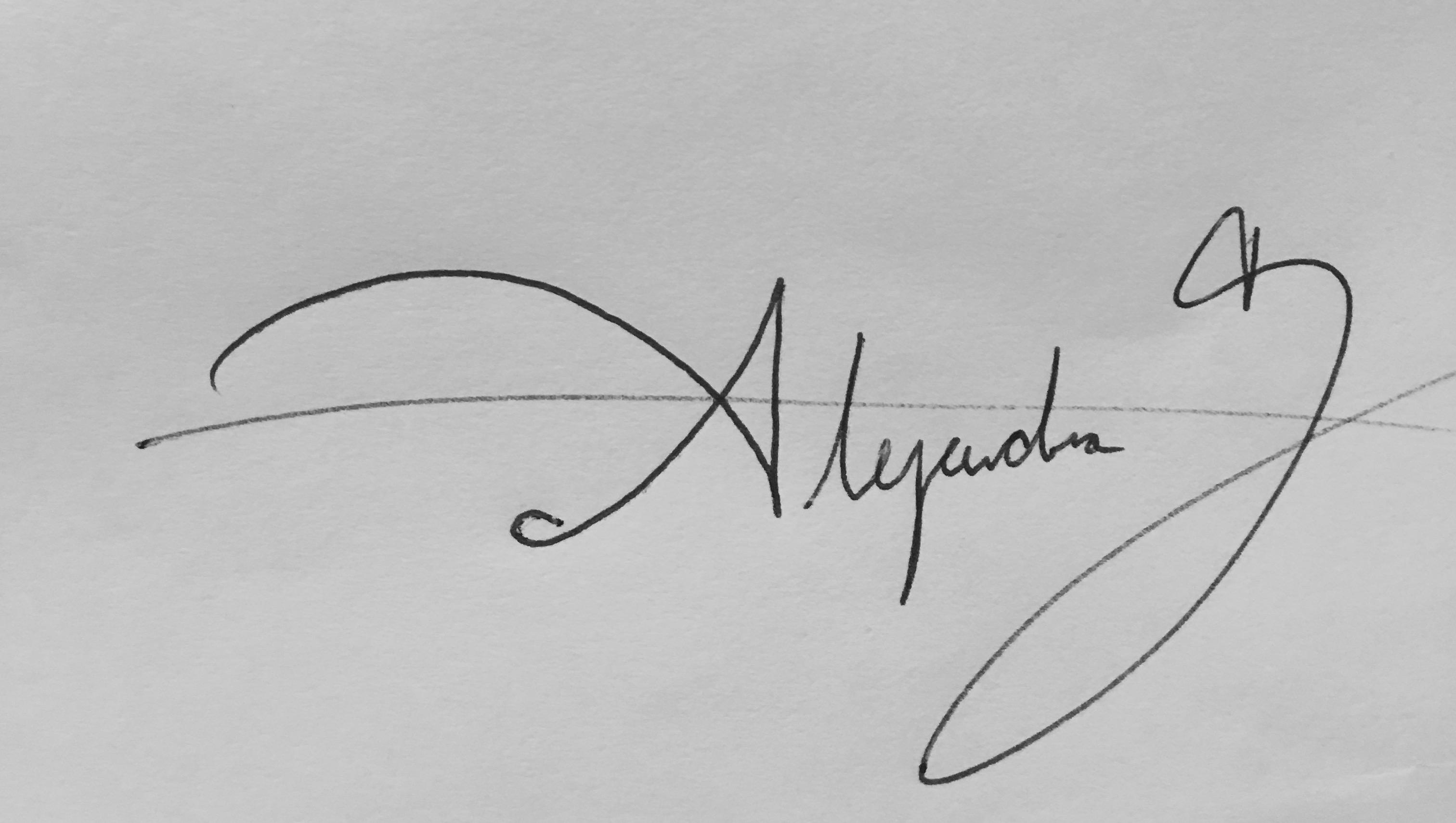 alejandra garcia's Signature
