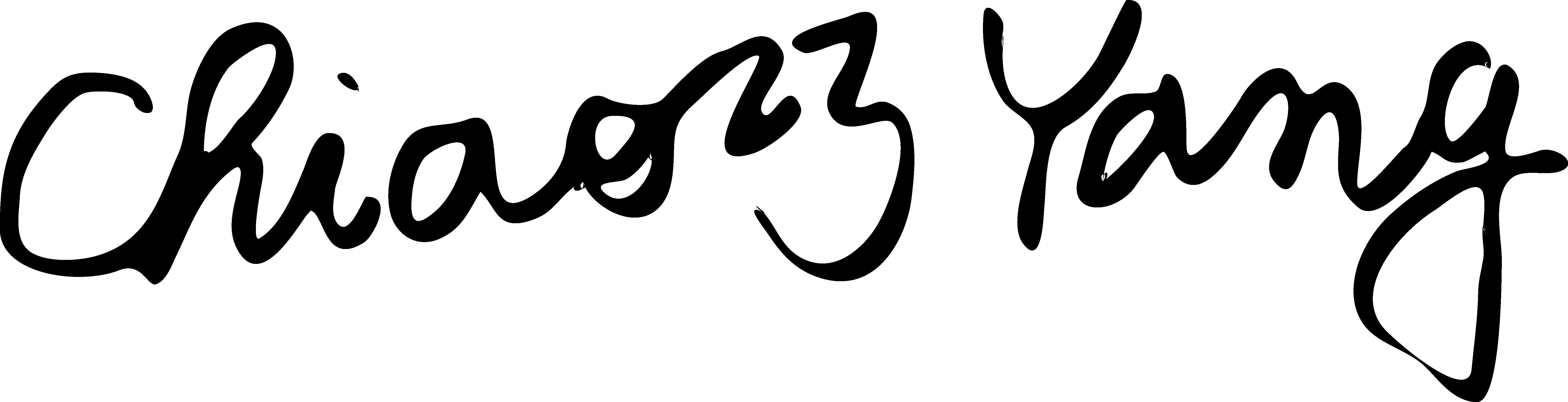 Chiao-Chiao Yang's Signature