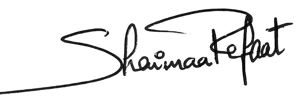 Shaimaa Refaat's Signature