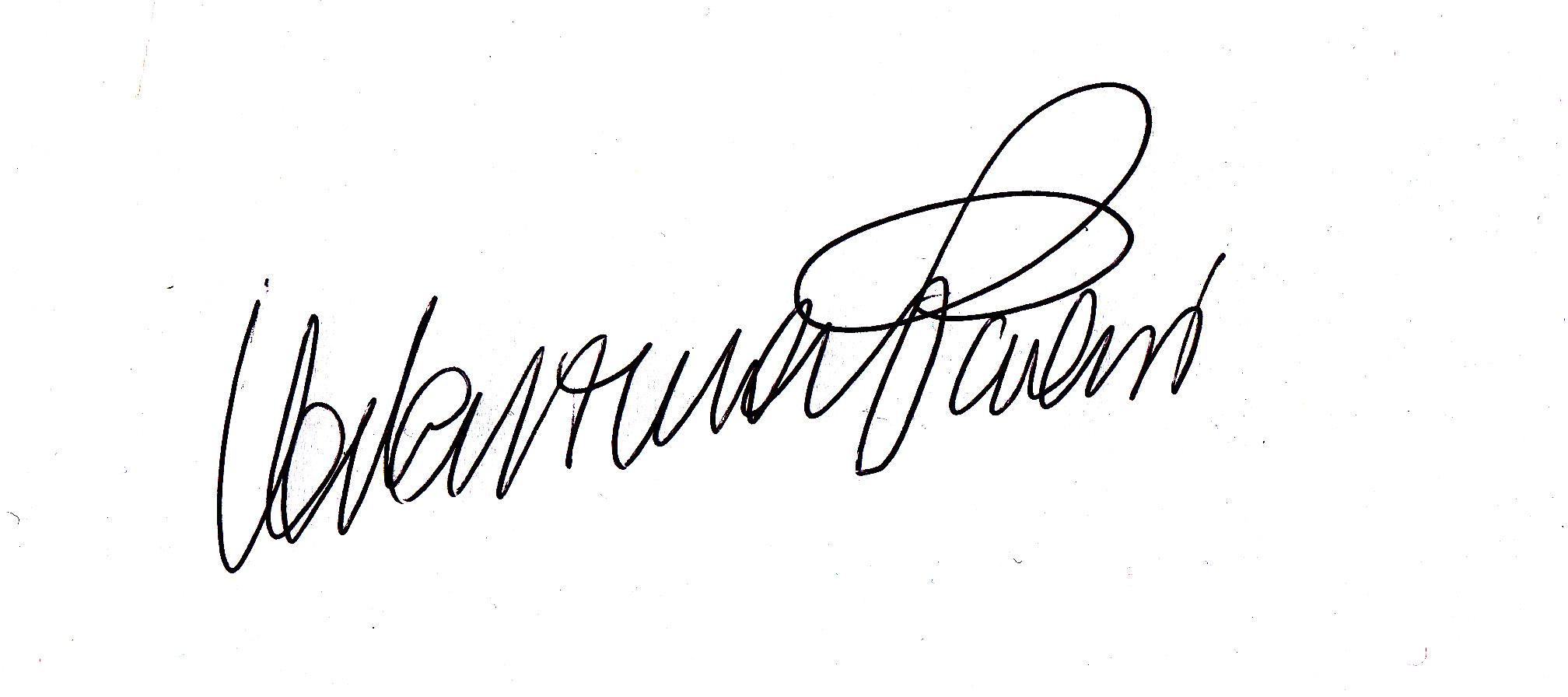 Valentina Paroni's Signature
