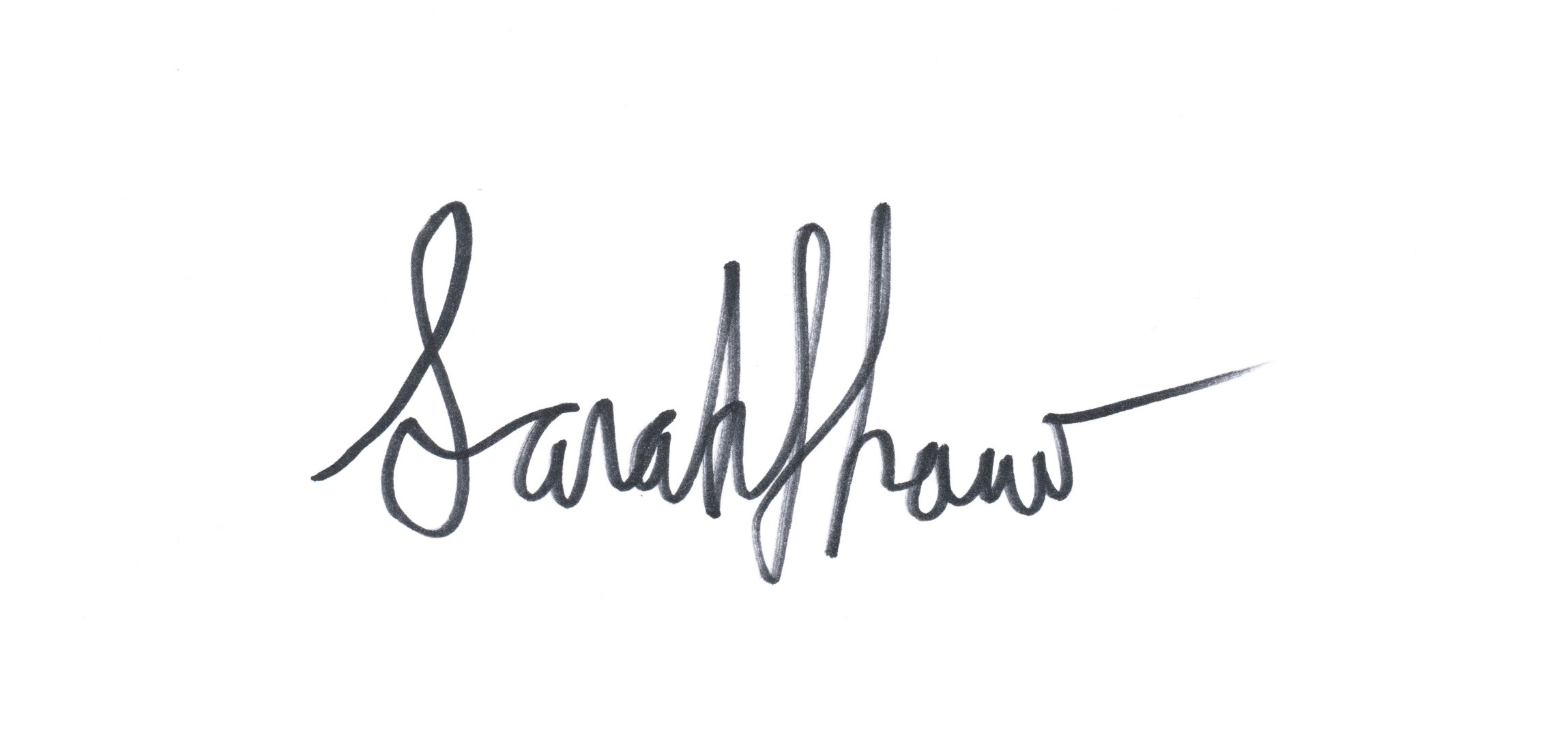 Sarah Anne Shaw's Signature