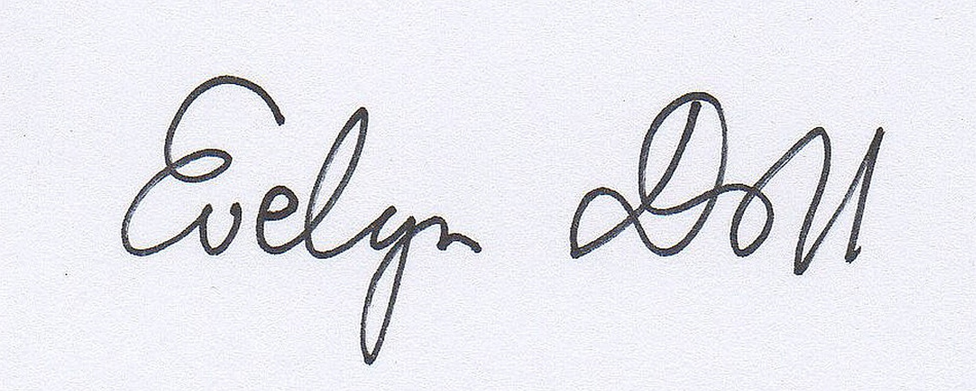 Evelyn Doll's Signature