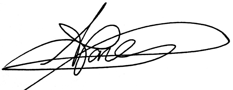 amy jones's Signature