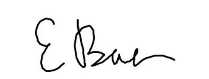 Ellen Baer's Signature