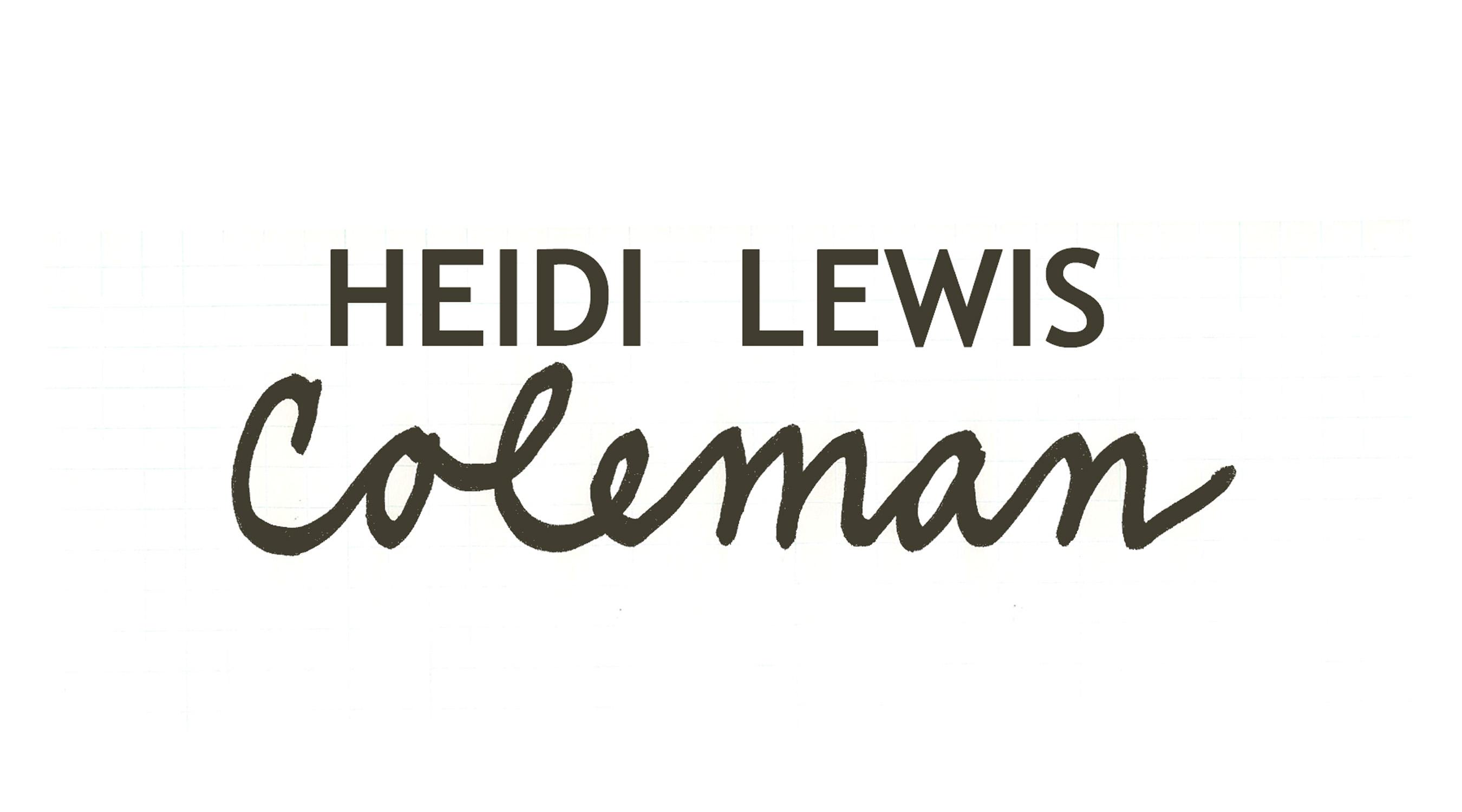 Heidi Lewis Coleman's Signature
