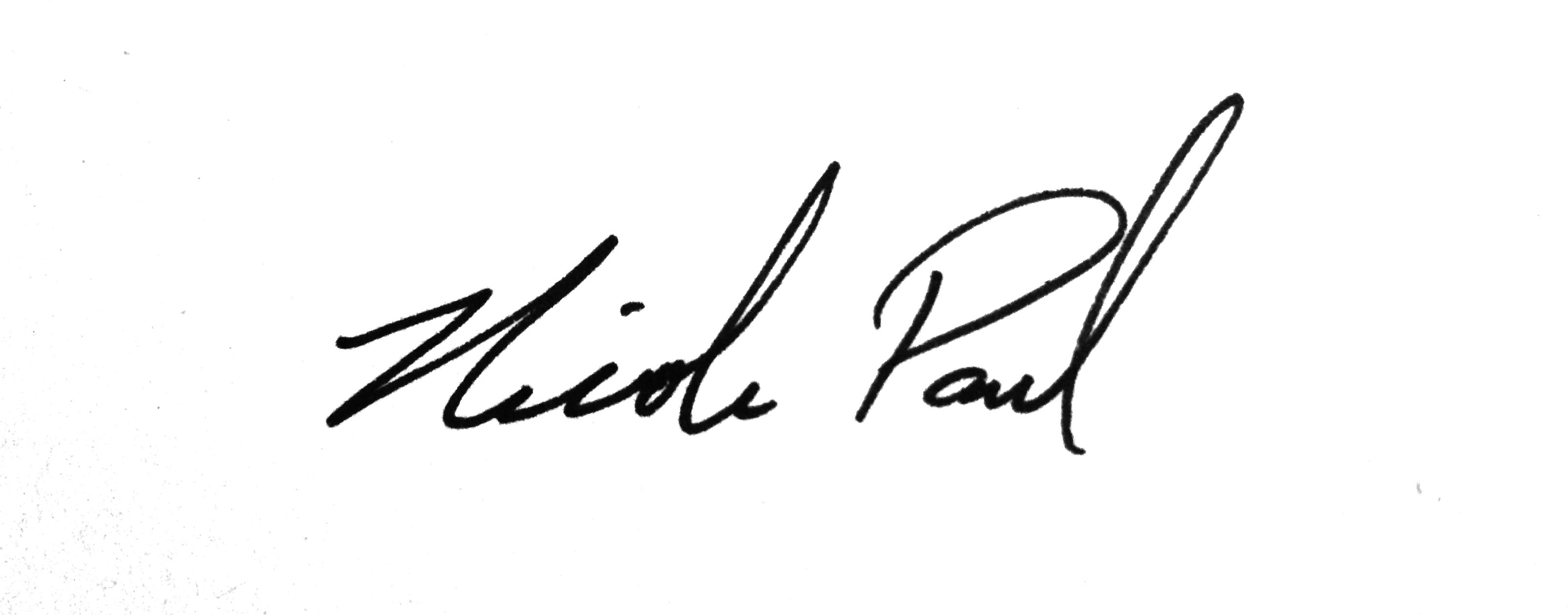 Nicole Paul.'s Signature