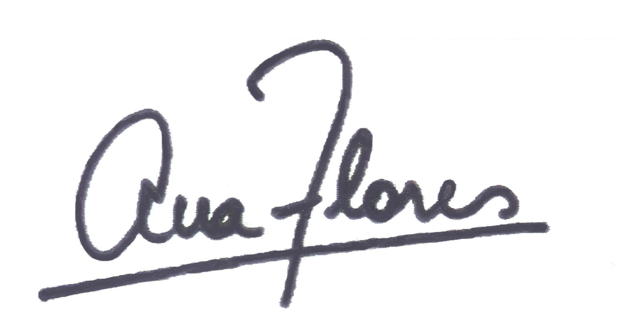 ANA FLORES's Signature