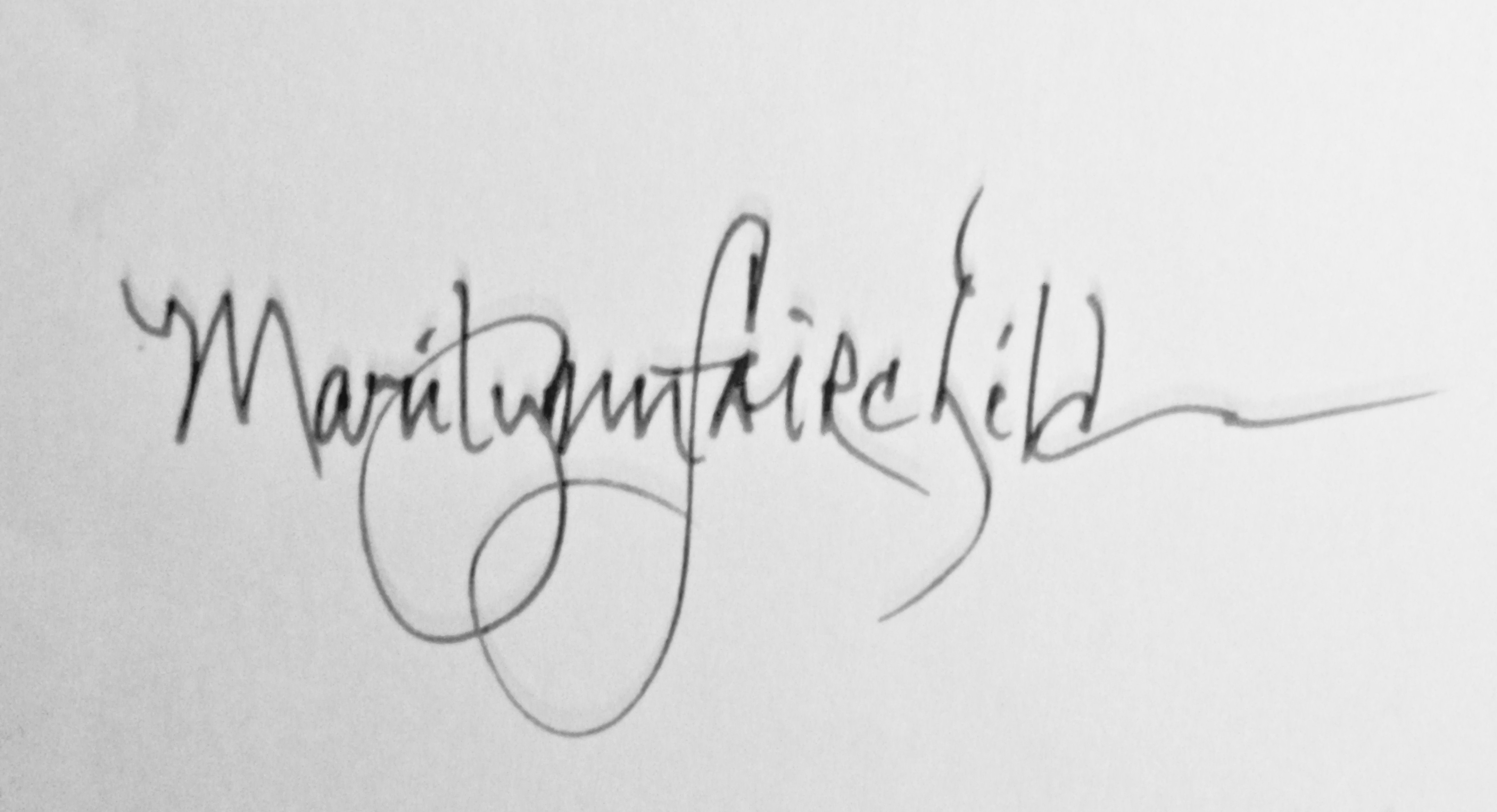 Marilynn Fairchild's Signature