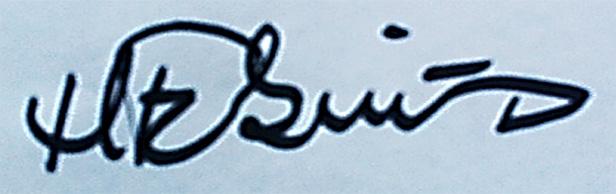 Hanne Fabricius's Signature