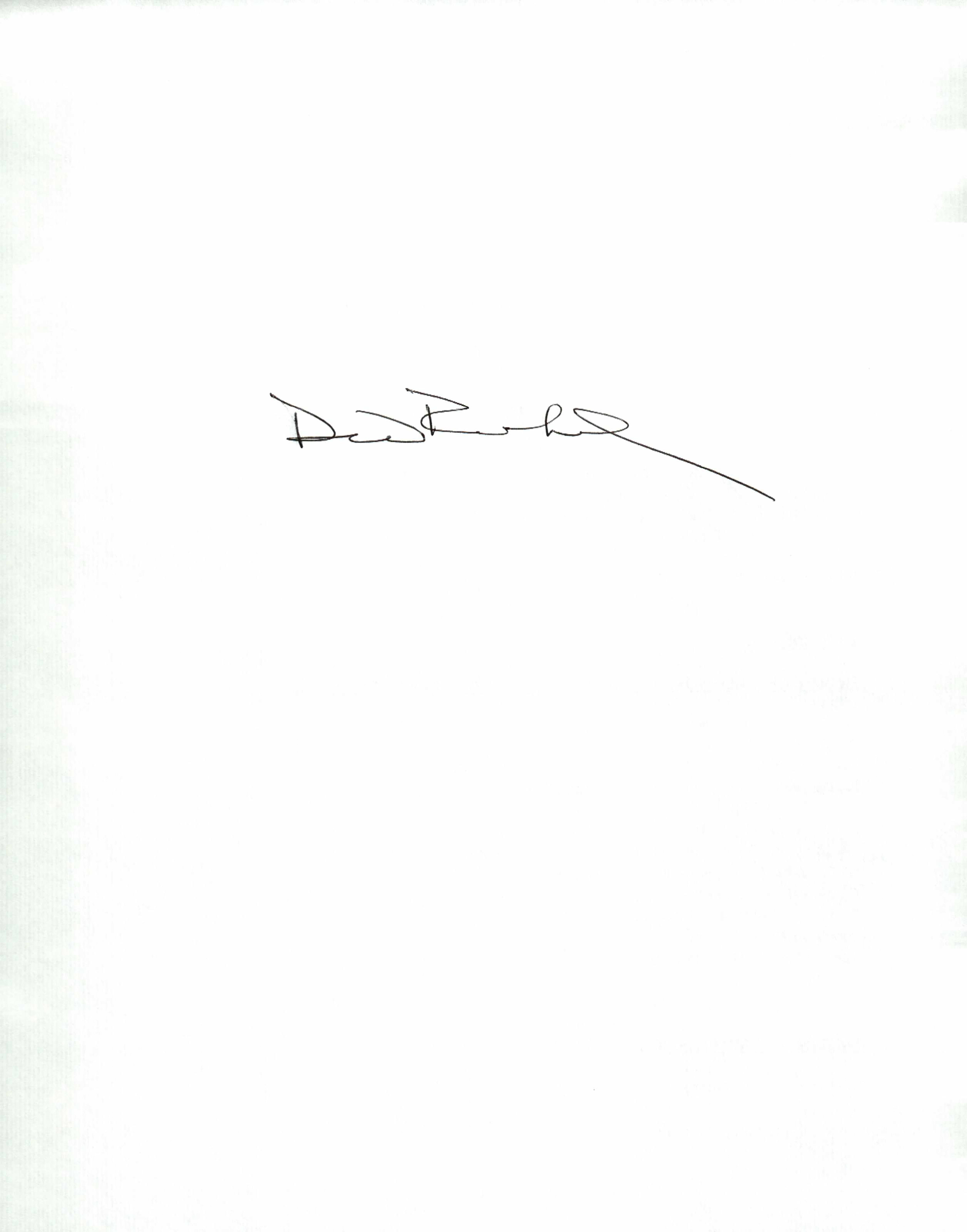 David Reinhard's Signature