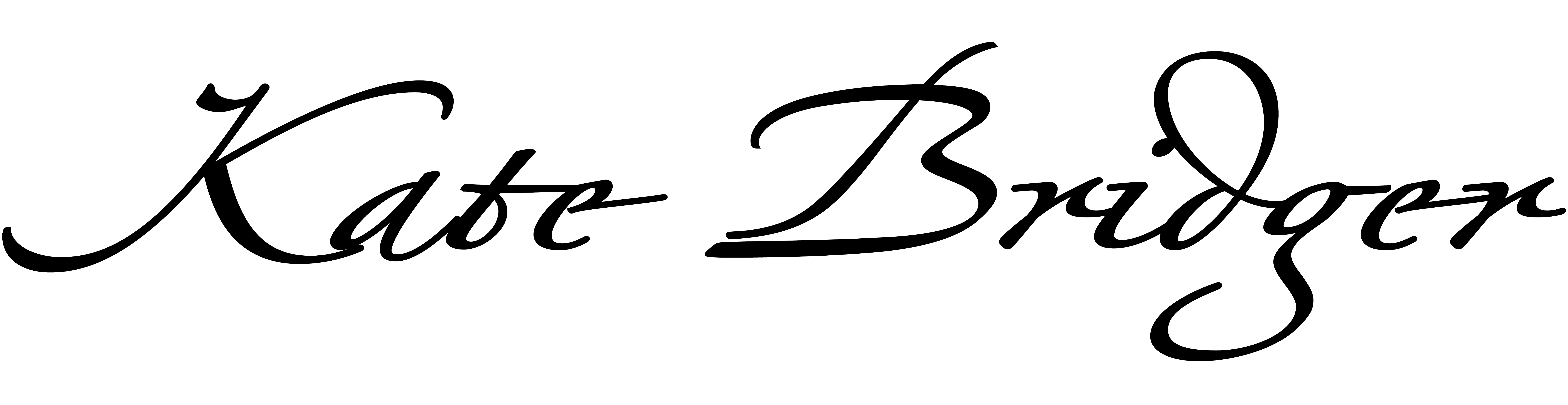 Kate Bridger's Signature