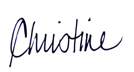 Christine St Pierre's Signature