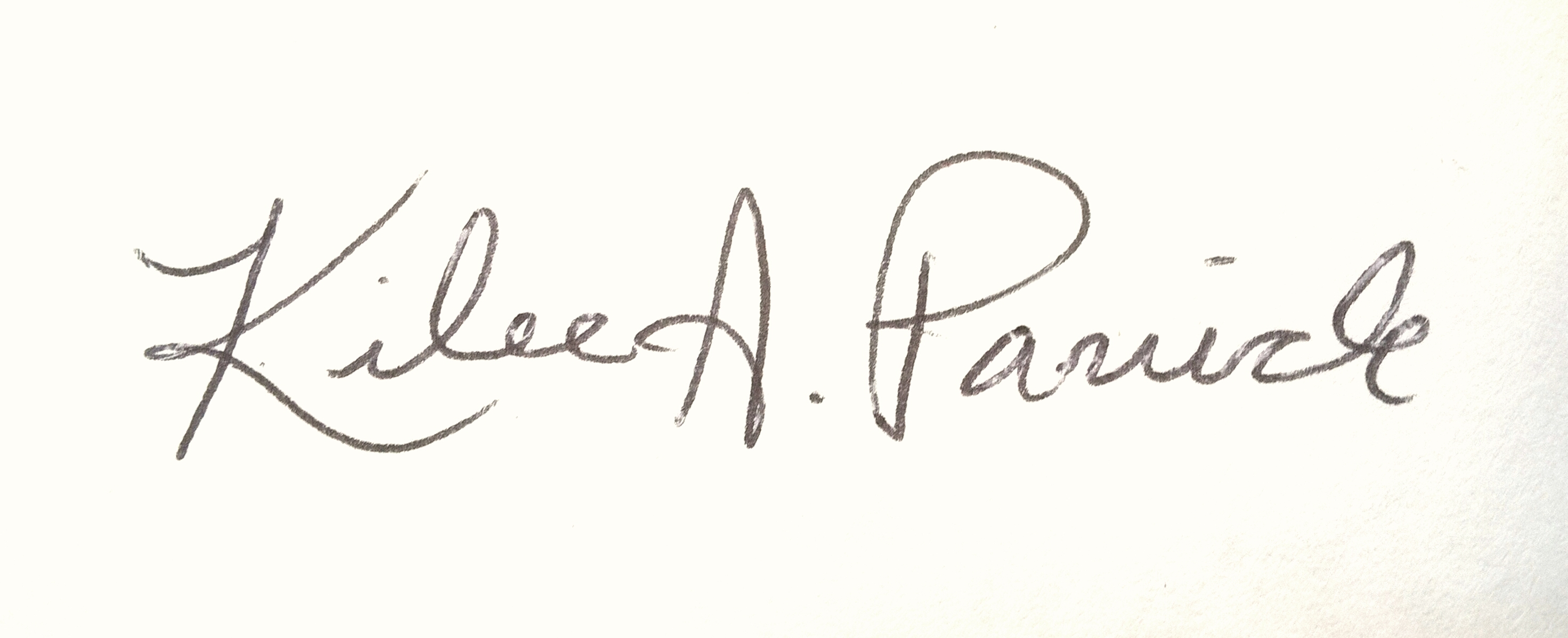 Kilee Panick's Signature