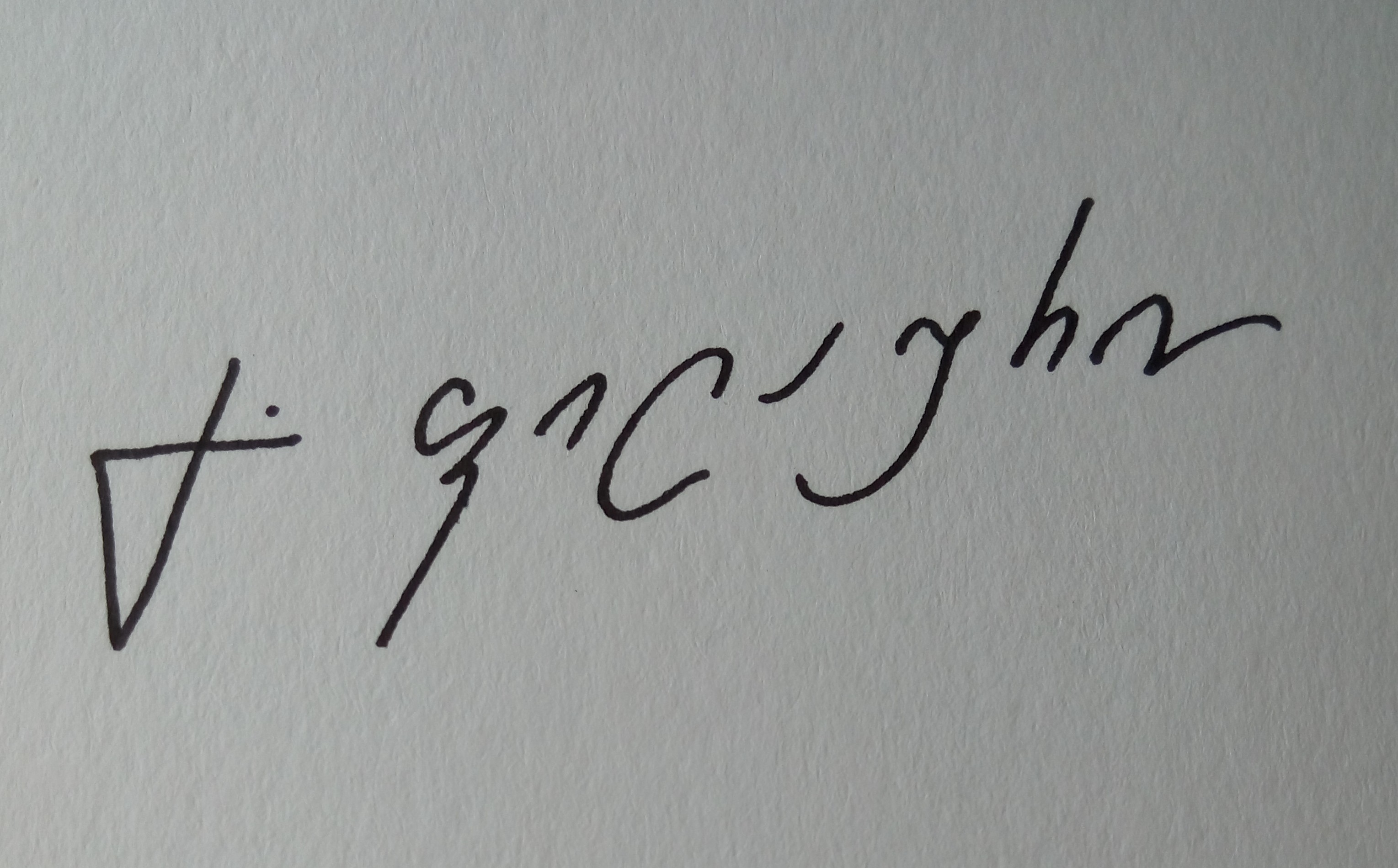 Gela Philauri's Signature