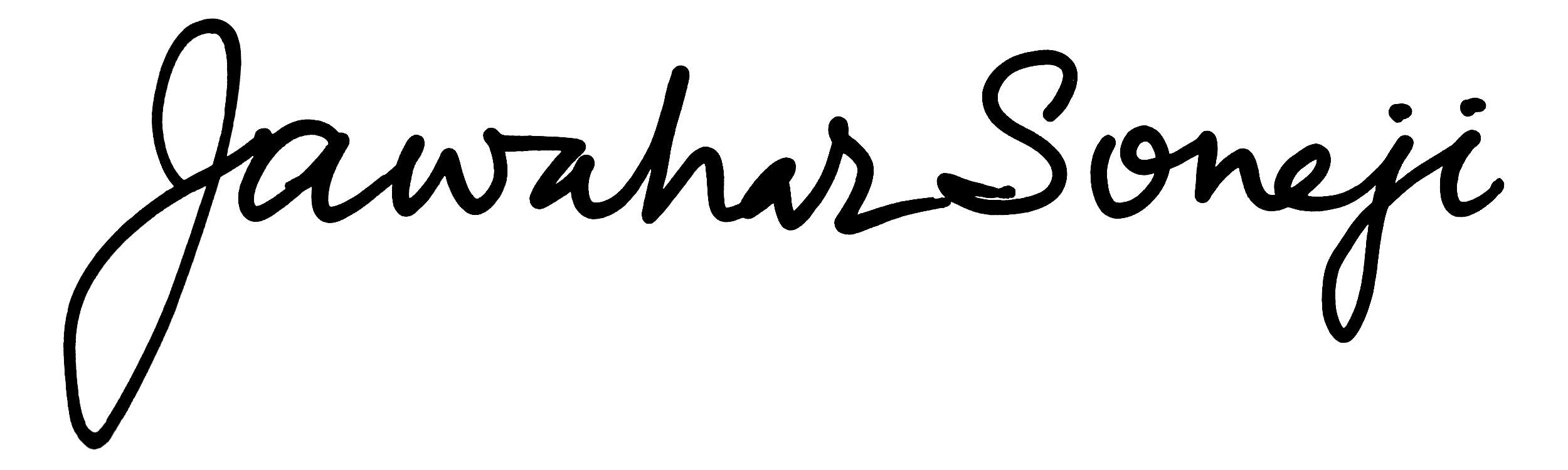 Jawahar Soneji's Signature