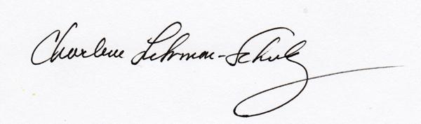 Charlene Fuhrman-Schulz's Signature