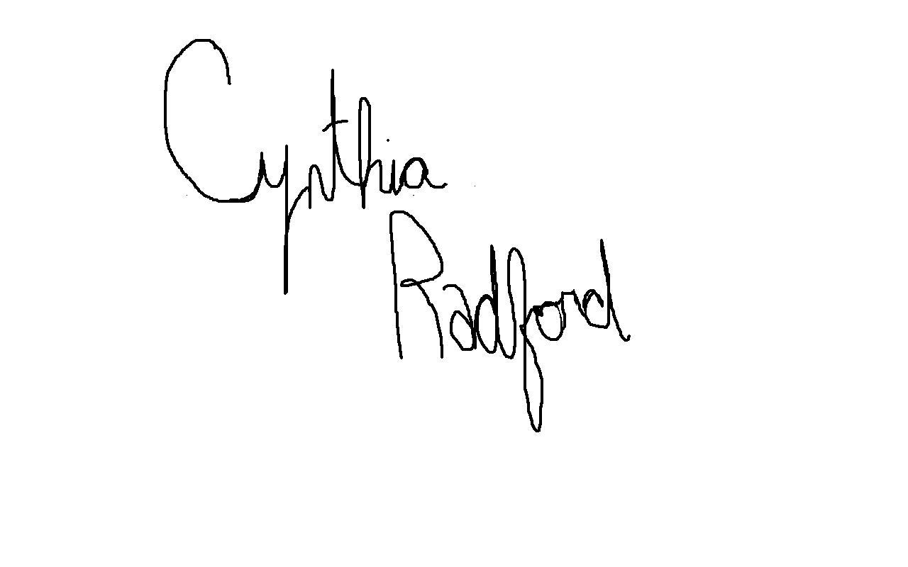 Cynthia Radford's Signature