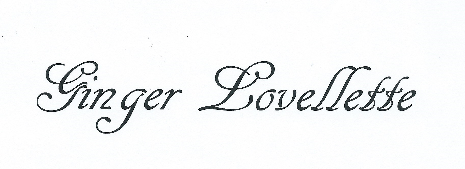 Ginger Lovellette's Signature