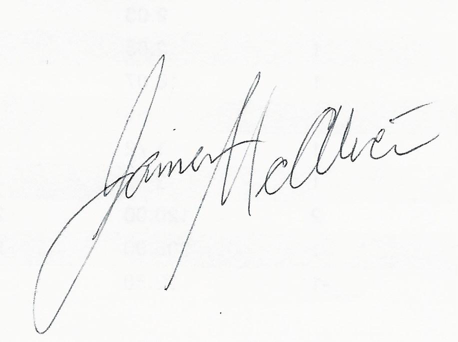 James McAlice's Signature