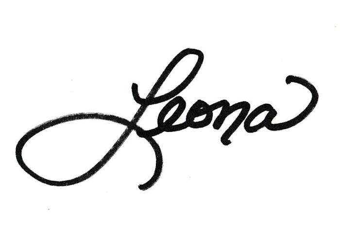 Leona Weaver's Signature
